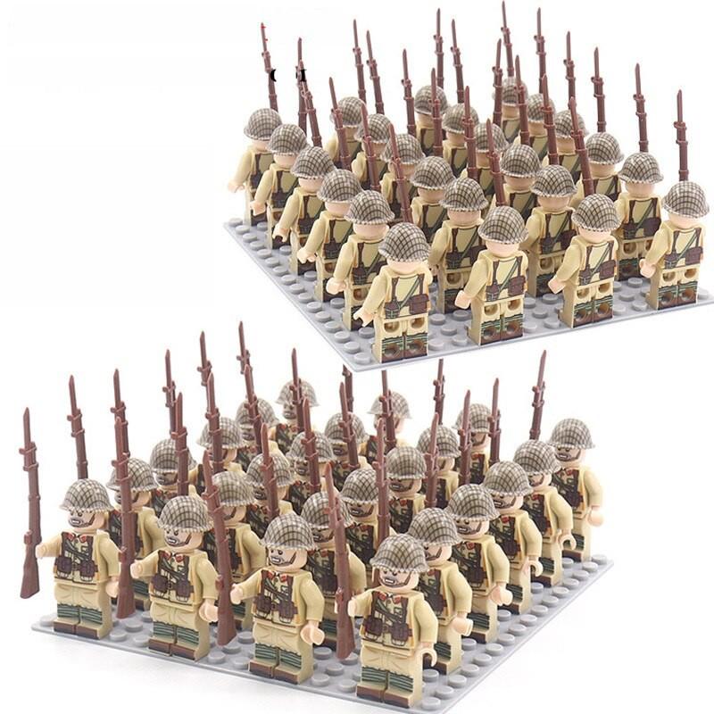 DZ-178 TBS Toys Японские солдаты: 24 минифигурки, 24 винтовки, 1 пластина 16х16