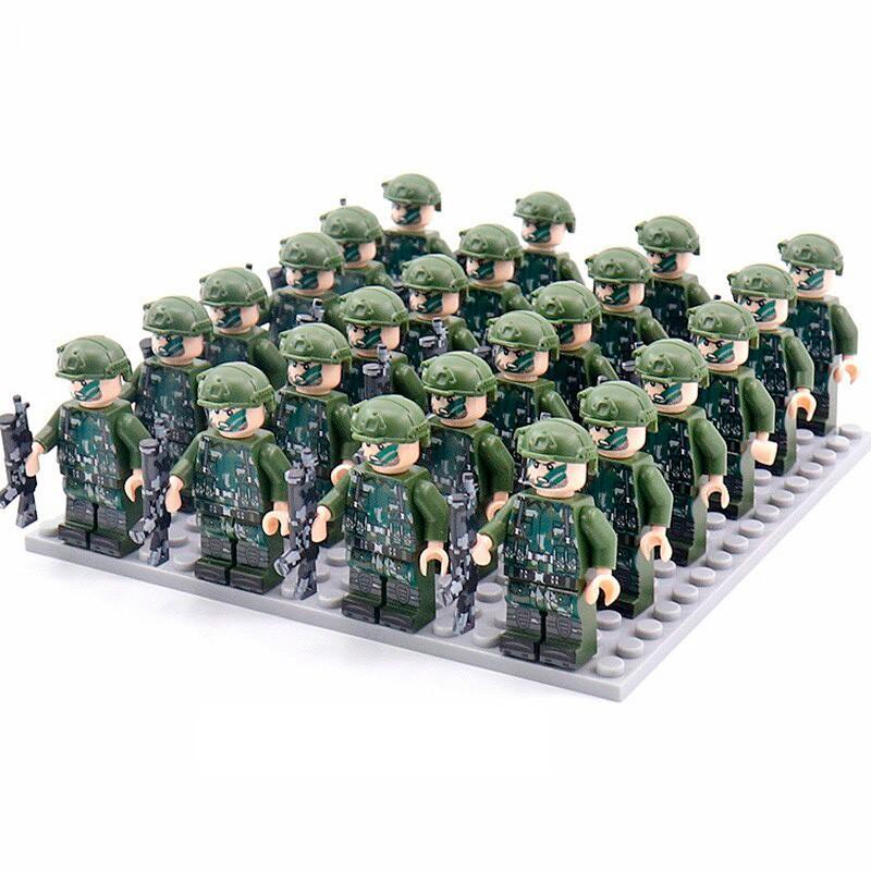 DZ-97 TBS Toys Спецподразделение: 24 минифигурки, 24 винтовки, 1 пластина 16х16
