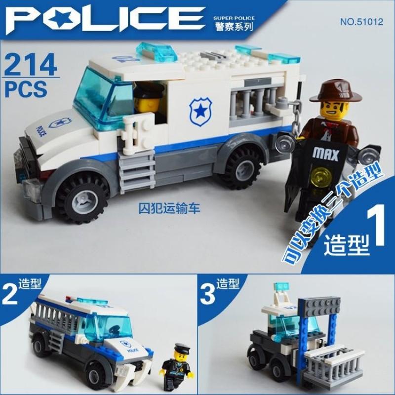 51012 Wange Полицейская машина 3 в 1