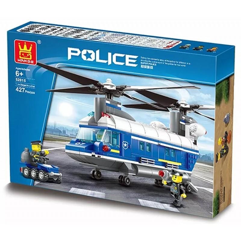 52015 Wange Полицейский вертолет Heavy Helicopter