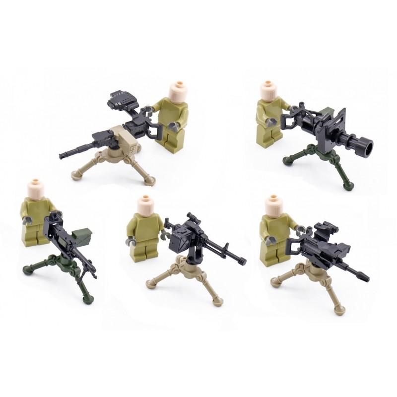 Набор из 5 видов крупнокалиберных пулеметов - 25 штук