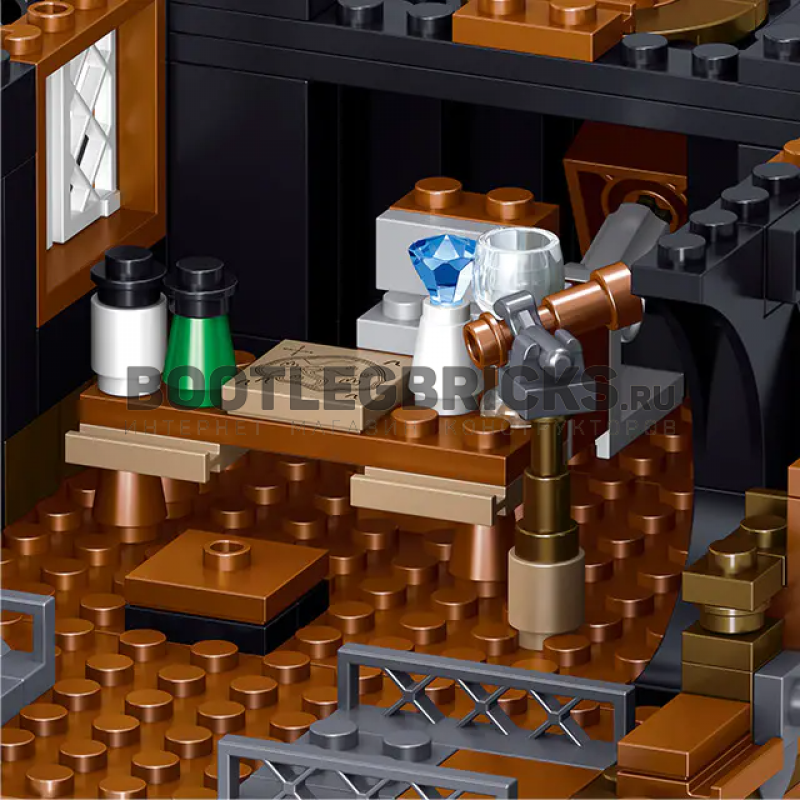 QL1804 ZHEGAO Королевство пиратов: корабль Черный ястреб